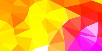 projeto do mosaico do triângulo do vetor multicolorido claro.