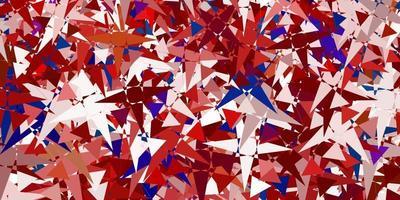 layout de vetor multicolor de luz com formas de triângulo