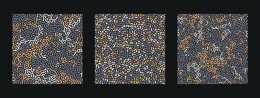 coleção de turing padrão abstrato sem emenda. vetor premium