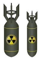 bomba atômica verde isolada em um fundo branco vetor