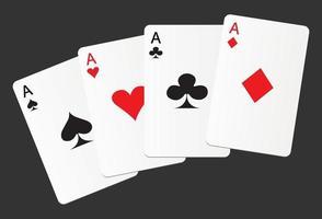 ases de cartas de jogar vetor