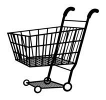 vetor de ícone de carrinho de compras