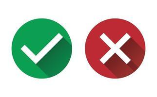 símbolo sim ou não conjunto de ícones vetor