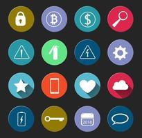 conjunto de sinais de alerta e ícones sociais vetor