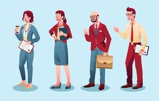 coleção de personagens de negócios vetor
