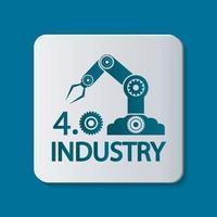ícone da indústria 4.0, ilustração de conceito de tecnologia. vetor