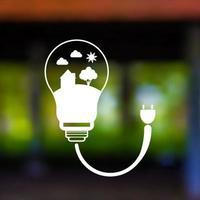 vector paisagem desfocada. design digital de poupança de energia