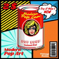 Pop art moderno vetor