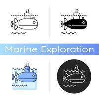 ícone de vetor submarino