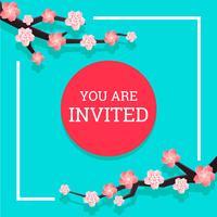 Convite japonês 2 vetor
