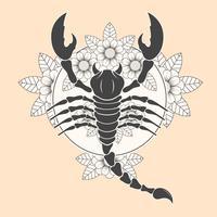 Vetor de tatuagem de escorpião