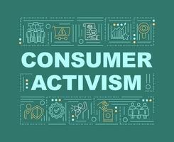 banner de conceitos de palavras de ativismo do consumidor vetor