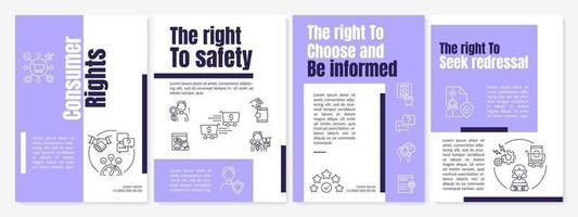 modelo de folheto de direitos do consumidor vetor