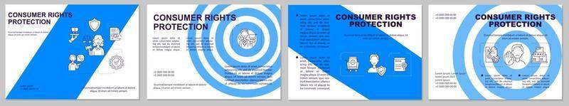 modelo de folheto de proteção dos direitos do consumidor vetor