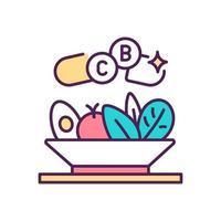 ícone de cor rgb de suplementos dietéticos