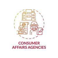 ícone do conceito de agências de defesa do consumidor vetor