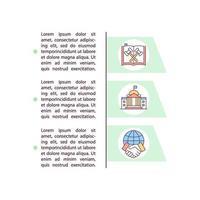 ícones de linha de conceito de legislação com texto vetor