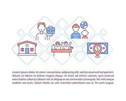 igualdade para trabalhadores imigrantes ícones de linha de conceito com texto vetor
