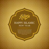 Feliz ano novo islâmico de fundo Vector
