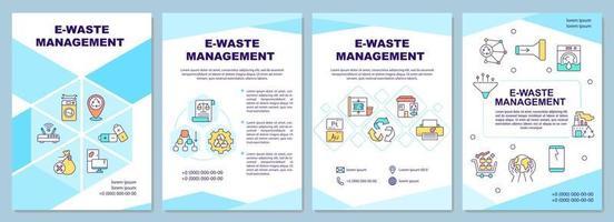 modelo de folheto de gerenciamento de lixo eletrônico vetor