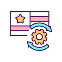 ícone de cor rgb de idioma preferido vetor
