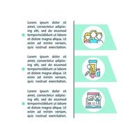 ícones de linha de conceito de estudos observacionais com texto vetor
