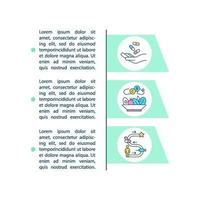 ícones de linha de conceito de estudos intervencionistas com texto vetor