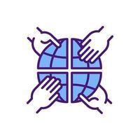 ícone de cor rgb de comportamento anti-competitivo vetor