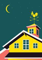 Casa com cata-vento vetor