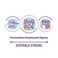 ícone do conceito de agência de empregos sem escrúpulos vetor