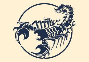 Design de tatuagem de escorpião vetor