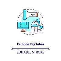 ícone de conceito de tubos de raios catódicos vetor