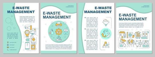modelo de folheto de gestão de resíduos eletrônicos vetor