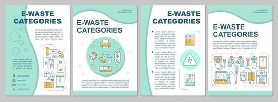 modelo de folheto de tipos de lixo eletrônico vetor