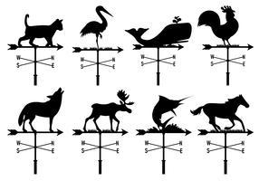 Coleção de animais de palhetas vetor