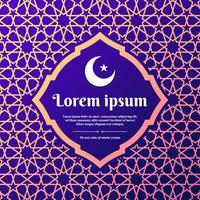 Islamic Geometric Ornament Greeting Card Modelos de estilo árabe vetor