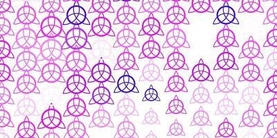 modelo de vetor rosa claro roxo com sinais esotéricos.