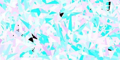 textura vector rosa escuro, azul com estilo triangular.