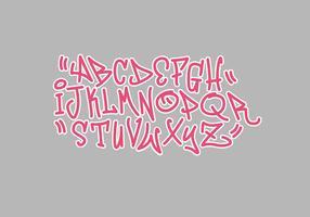 Ilustração em vetor grafite alfabeto