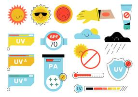 Infográfico Ultravioleta Elements Vector Illustration