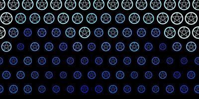 modelo de vetor roxo escuro com sinais esotéricos.