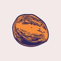 batatas mão desenhada estilo vintage. vegetal isolado artístico. esboço detalhado de comida vegetariana. elemento de design retro de comida eco. ilustração do vetor da loja de vegetais do mercado dos fazendeiros