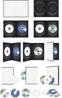 disco de cd dvd e conjunto de caixa vetor