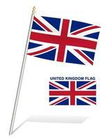 bandeira do Reino Unido em um fundo branco vetor