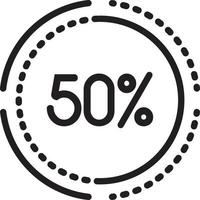 ícone de linha para porcentagem vetor