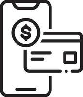 ícone de linha para verificação de saldo vetor