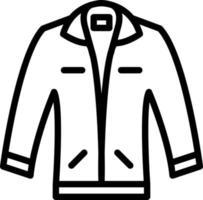ícone de linha para jaqueta vetor