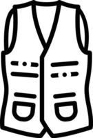 ícone de linha para colete vetor