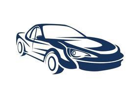 ilustração do projeto da silhueta do carro vetor