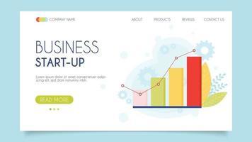 conceito de inicialização de negócios vetor